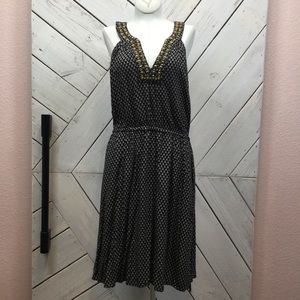 Lucky Brand Embellished Drawstring Dress